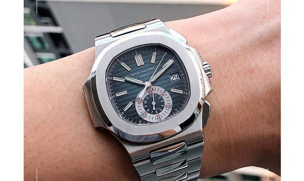 Patek Philippe 2008 USED Nautilus Chronograph Blue Dial 5980/1A Collectable Watch