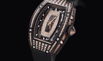Richard Mille NEW RM 07-01 NTPT Rose Gold Med Set Diamonds Ladies Watch
