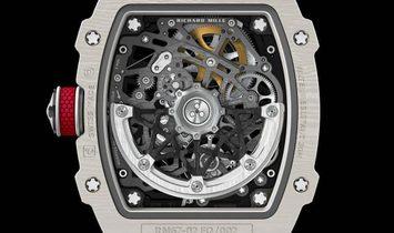 RICHARD MILLE NEW RM 67-02 White Quartz TPT Alexis Pinturault Mens Watch