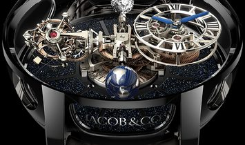 Jacob & Co. 捷克豹 NEW & LIMITED 18 PIECE Astronomia Tourbillon Black Gold AT100.31.AC.SD.A