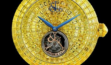 Jacob & Co. [NEW] Brilliant Flying Tourbillon Yellow Sapphire BT543.50.BY.BY.B