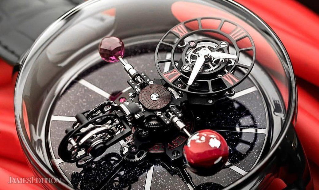 Jacob & Co. 捷克豹 [NEW] Astronomia Black Ceramic Red AT100.95.KR.SR.B