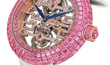 Jacob & Co. 捷克豹 [NEW] Brilliant Skeleton Art Deco Pink Sapphire BT545.40.SP.RB.B