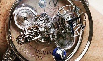 Jacob & Co. 捷克豹 [NEW] Astronomia Clarity White Gold Diamonds Tourbillon AT820.30.BD.WD.A