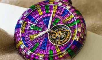 Jacob & Co. 捷克豹 NEW & UNIQUE Brilliant Flying Tourbillon Purple Degrade BT543.30.HX.UE.BSB4D
