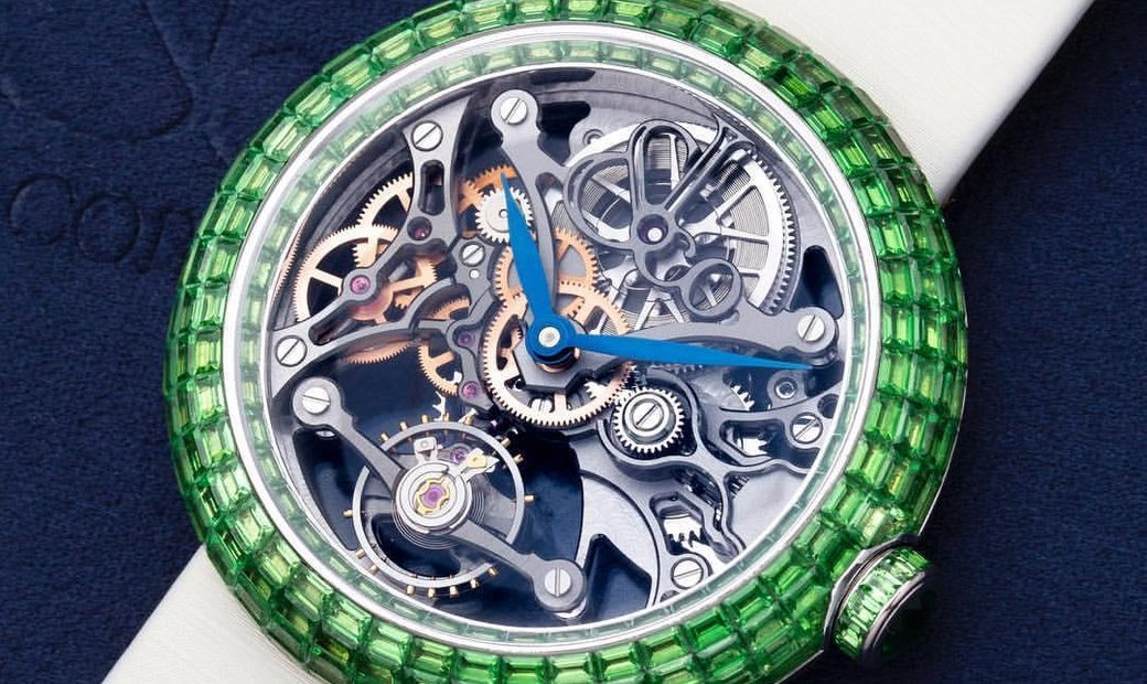 Jacob & Co. 捷克豹 [NEW] Brilliant Skeleton Baguette Green BS531.30.BZ.BB.ASB4A
