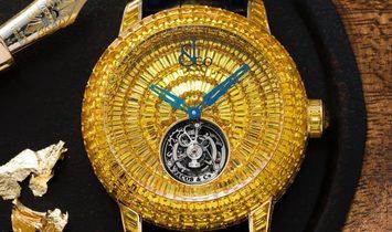 Jacob & Co. 捷克豹 [NEW] Caviar Tourbillon Yellow Sapphire CV201.50.BY.BY.A