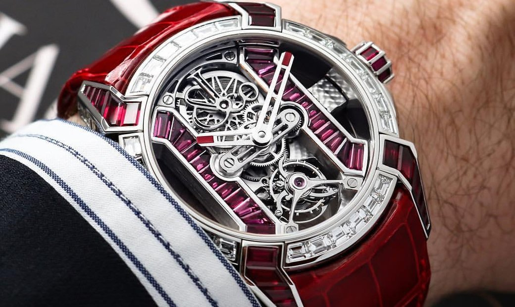 Jacob & Co. 捷克豹 [NEW] EPIC-X Tourbillon Baguette Platinium Red EX500.60.BD.BR.A
