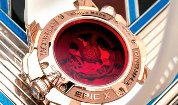 Jacob & Co. 捷克豹 [NEW] EPIC-X Chrono Baguette EC422.40.BW.RD.A