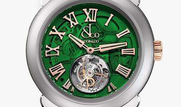 Jacob & Co. 捷克豹 [NEW] Palatial Flying Tourbillon Hours & Minutes Green PT520.24.NS.QG.A