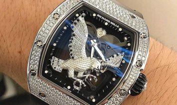 Richard Mille NEW & UNIQUE RM 57-02 Falcon White Gold Diamonds Tourbillon