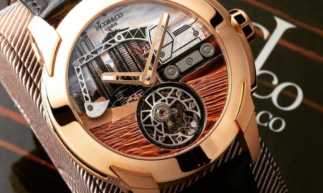 Jacob & Co. 捷克豹 [NEW] Pioneer Tourbillon Rose Gold PI422.40.AB.AB.A