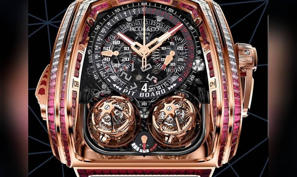 Jacob & Co. 捷克豹 NEW & LIMITED 18 PIECE Twin Turbo Furious Baguette Rose Gold TT800.40.BR.AA.A