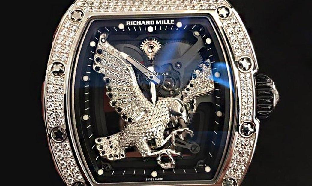 Richard Mille NEW & UNIQUE RM 57-02 Falcon White Gold Diamonds Tourbillon