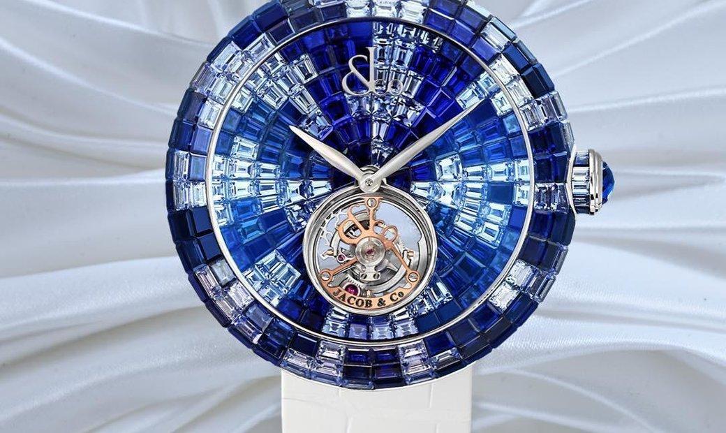 Jacob & Co. 捷克豹 [NEW] Brilliant Flying Tourbillon Blue Shades BT543.30.CB.CB.B