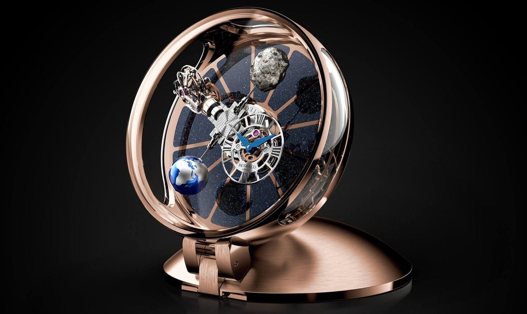 JACOB & CO. 捷克豹 NEW ASTRONOMIA TABLECLOCK TOURBILLON GOLD AT900.16.AV.MT.A (Retail:CHF 170'000)