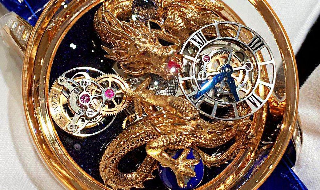 Jacob & Co. 捷克豹 NEW & UNIQUE Astronomia Tourbillon Dragon Rose Gold Diamonds (Retail:CHF 1'250'000)