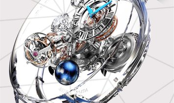 Jacob & Co. 捷克豹 NEW & UNIQUE Astronomia Tourbillon Flawless AT125.80.AA.UA.A (Retail:HK$8,800,000)