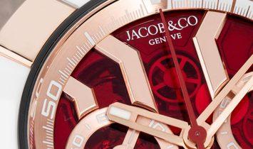 Jacob & Co. 捷克豹 NEW EPIC-X Chrono Rose Gold EC312.42.PB.RN.A (Retail:CHF 38'000)