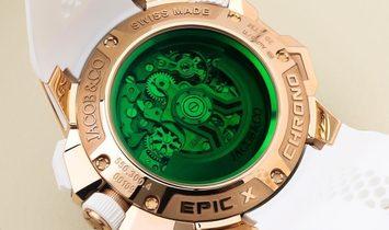 Jacob & Co. 捷克豹 NEW EPIC-X Chrono Rose Gold EC312.42.PB.GR.A (Retail:HK$343,700)