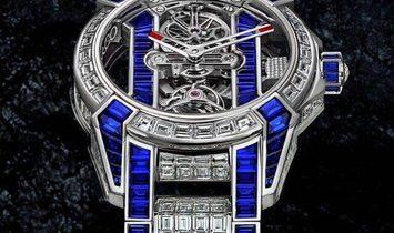 Jacob & Co. 捷克豹 [NEW] EPIC-X Tourbillon Baguette Bracelet Blue EX500.30.BD.BB.A30BB