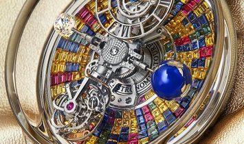 Jacob & Co. 捷克豹 NEW & UNIQUE Astronomia Tourbillon Baguette Arlequino AT800.30.BD.UB.B