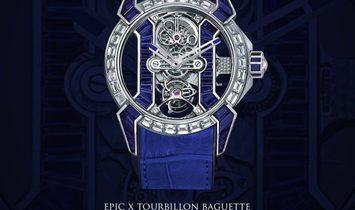 Jacob & Co. 捷克豹 [NEW] EPIC-X Tourbillon Baguette Platinium EX500.60.BD.BB.A