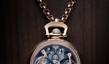 Jacob & Co. NEW & LIMITED 101 PIECE Brilliant Pocket Watch Pendant BS200.40.RD.CB.A