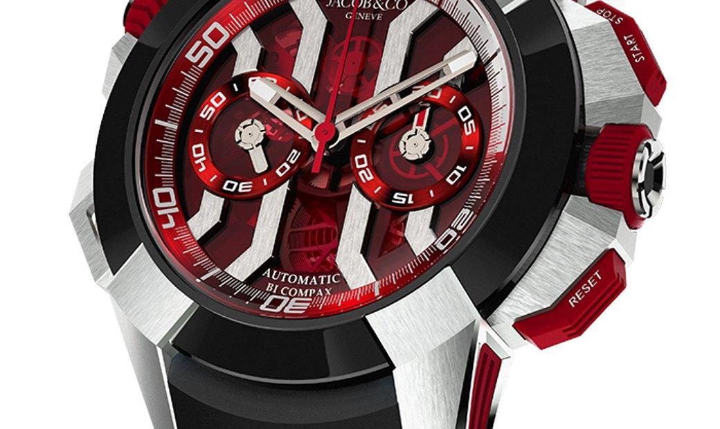 Jacob & Co. 捷克豹 [NEW] EPIC-X Chrono Titanium EC313.20.SB.RR.B (Retail:HK$200,500)