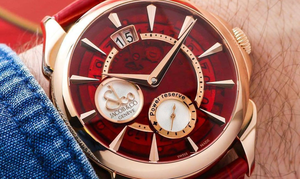 Jacob & Co. 捷克豹 NEW Palatial Classic Manual Big Date Mineral Crystal Dial Rose Gold PC400.40.NS.MR.A