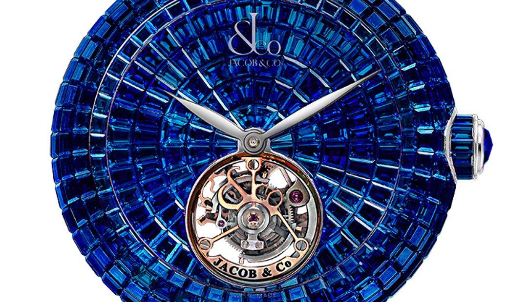 Jacob & Co. 捷克豹 NEW Brilliant Flying Tourbillon Blue Sapphire BT543.30.BB.BB.B (Retail:HK$4,868,000)