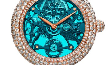 Jacob & Co. 捷克豹 NEW & LIMITED 101 PIECE Brilliant Skeleton Northern Lights RG BS431.40.RD.QB.A