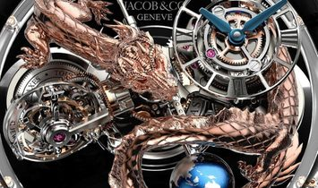 Jacob & Co. 捷克豹 NEW & UNIQUE Astronomia Dragon Sapphire AT125.80.DR.SD.B