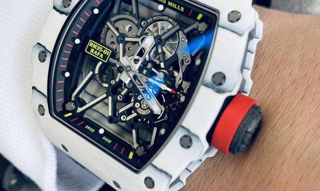 "RICHARD MILLE NEW RM 35-01 TPT WHITE CARBON LAST EDITION "" RAFAEL NADAL "" 2018"