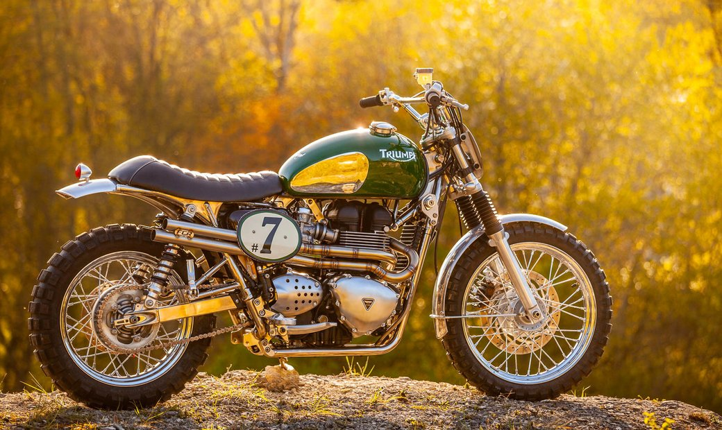 "Triumph  ""Green Legend"" Steve McQueen Edition"