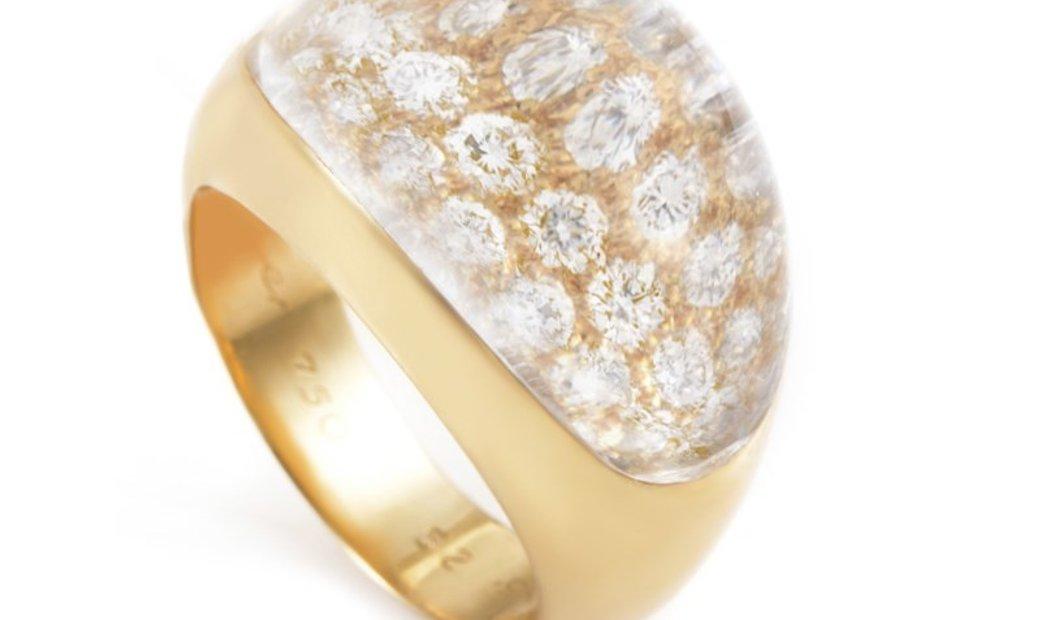 Cartier Cartier Myst de Cartier 18K Yellow Gold 1.00 ct Diamond Rock Crystal Ring