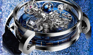 Jacob & Co. 捷克豹 NEW & LIMITED 18 PIECE Astronomia Sky Platinum Tourbillon AT110.60.AA.WD.A