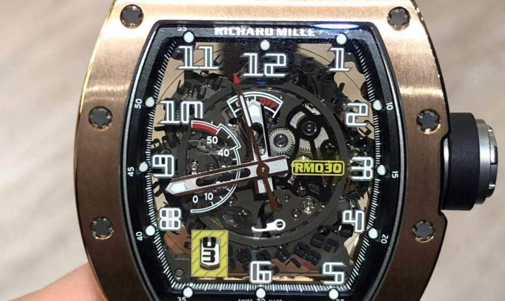 Richard Mille [2018 NEW] RM 030 Rose Gold Skeleton Dial Watch