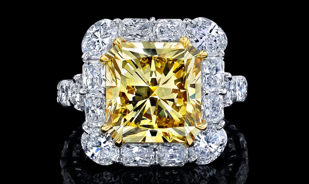 AgentAuction.co I Fancy Yellow Diamond I View, Bid, Win I Published Reserve $56,000.00