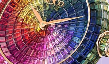 Jacob & Co. 捷克豹 [NEW] Brilliant Full Baguette Rainbow Rose Gold 44mm BA534.40.HR.HR.B