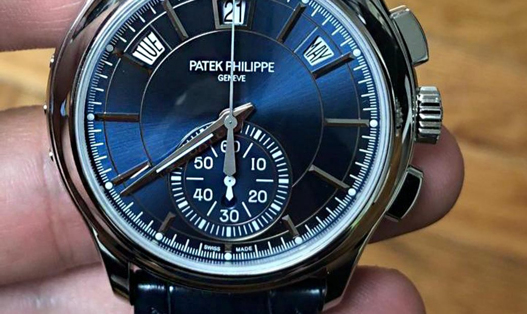 Patek Philippe NEW Annual Calendar Chronograph 5905P Blue Dial (Retail:HK$585,600)