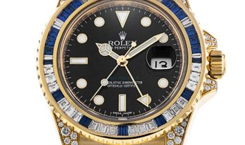 Rolex [NEW] GMT-MASTER II Black Dial Yellow Gold 116758SA