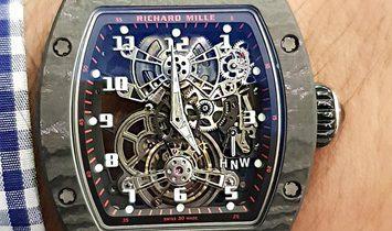 Richard Mille NEW RM 17-01 Black NTPT Tourbillon Watch