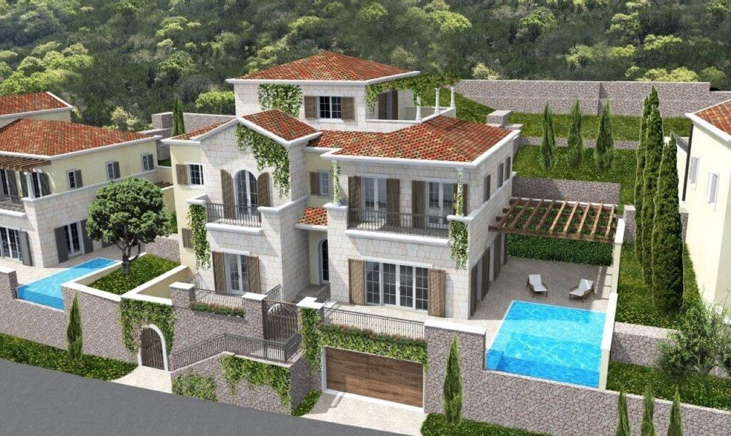 Tivat, Luštica Bay - Exclusive villa under construction with panoramic sea view