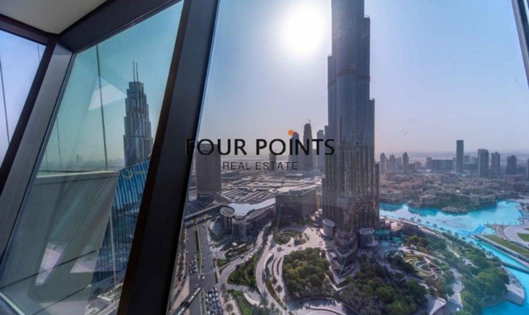 Burj Vista 1 | 3 BR+M | Burj Khalifa view