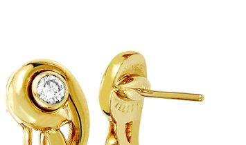 Cartier Cartier 18K Yellow Gold Diamond Omega Back Earrings