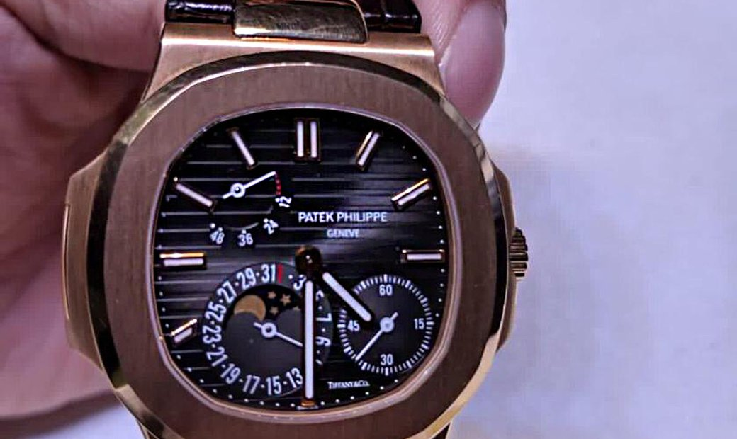 "Patek Philippe ""Tiffany & Co"" 5712R Nautilus Rose Gold Power Reserve Moonphase Watch"