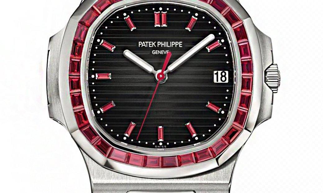 Patek Philippe Nautilus Ruby 5711/112P Platinum Automatic Mens Watch