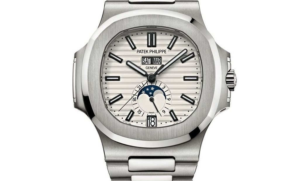 Patek Philippe [2019 NEW] Nautilus Annual Calendar Moonphase White Dial 5726/1A