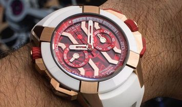 Jacob & Co. 捷克豹 EPIC-X Chrono Rose Gold Satined Case EC313.42.SA.RR.F